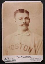 1890 Studio Cabinet DICK JOHNSTON - BOSTON Club Players League - Great image