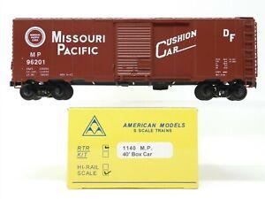 S Scale American Models 1140 MP Missouri Pacific 40 ' Boxcar #96201