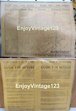 1940's Street Map HAVANA TIMES of CUBA Pan-American Review Merchant District VTG