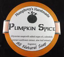 PUMPKIN SPICE Shave & Beard Wash Soap Men's Puck Glycerin Bar Nutmeg Cinnamon