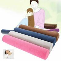 Cervical Neck Support Pillow Round Roll Memory Foam Sleeping Positioning Bolster