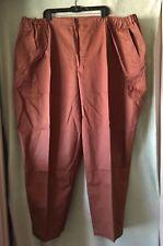 Women's Junonia Brown 100% Cotton Pants New Plus Size 38A 6X Side Elastic Insert