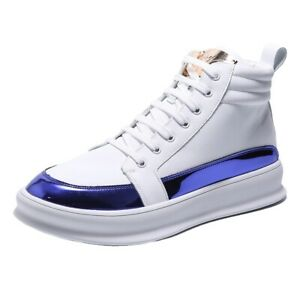 Fashion Men's Lace Up Skateboard Casual Shoes High Top Sneakers Ankle Boots