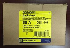 BRAND NEW SquareD QO QO260GFI 2Pole 60Amp 120/240Volt Plug-in w/ GroundFault