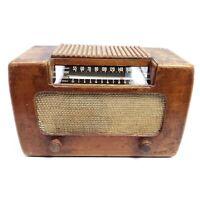 Rare Vintage Farnsworth ET-067 Wooden Tube Radio AM Tabletop Working