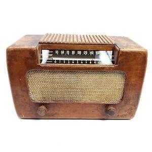Rare Working Vintage Vacuum Tube Radio Farnsworth ET-067 AM Tabletop Music