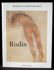Rodin Aquarelles et dessins érotiques Bibliothèque de l'image NM