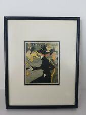 TOULOUSE LAUTREC Divan Japonais Lithograph 1960's Pro- framed10 1/2 x 8 1/2