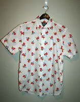 NEW Young Mens PLAYSTATION Short Sleeve White Button Down Front Shirt Large L