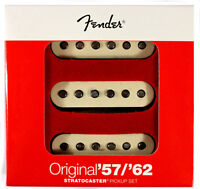 Genuine Fender Original '57/'62 Strat Pickups, Set of 3, 099-2117-000 NEW