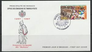 Monaco Sc. 2049 Tennis Tournaments in Monaco Ovpt. 'M. RIOS' on 1997 FDC