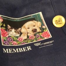 The Humane Society of the US Reusable Blue Tote Circular Collectible Dog Cat Pin