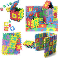 36PCS Baby Kids Alphabet Numerals Play Blocks DIY Puzzle EVA Foam Jigsaw Toys