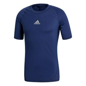 adidas AlphaSkin Techfit Compression Team Short Sleeve Shirt Blue CW9520