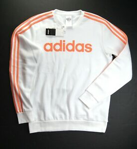 adidas Men's Essential 3-Stripes Fleece Logo Pullover Sweatshirt #GD5389 NWT