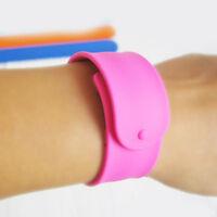 Children Silicone Bracelets Colorful Flexible Slap Wrap Wristband Kids Gifts Hot