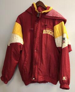 Vintage Starter Washington Redskins Coat Jacket Parka Hoodie Dwayne Haskins
