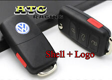 4 Buttons Flip Remote FOB Key Shell Case Uncut for VW Passat Jetta 3+1 Buttons