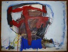 Herrmann Ch H Acrylique sur papier signée art abstrait abstraction Bischwiller