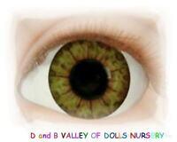 Golden Hazel 18mm Half Round Real Eyes ~ REBORN DOLL SUPPLIES