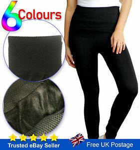 Winter Leggings High Waist Thick Warm Tummy Control Fleece Size 8 - 22