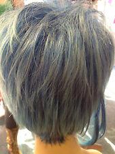 NIRVANA FUNKY SHORT BLUE CLASSIC CAP FULL WIG UNISEX FITS ALL no.08  UK