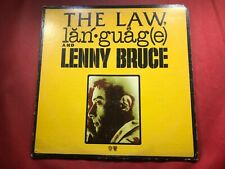 S2-36 LENNY BRUCE The Law & Language & Lenny Bruce .. COMEDY .. SP 9101 .. 1974