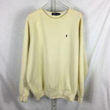 Vintage 90's Polo Ralph Lauren Crewneck Sweatshirt Yellow XL