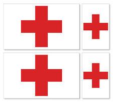 4 X CROCE ROSSA INTERNAZIONALE (CRISTIANO) Bandiere-vinile Car iPad Laptop Adesivo