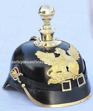 Imperial Officer's German Leather Prussian Baden Pickelhaube Helmet Warrior Helm