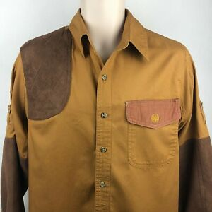 Shooting Shirt Mens Medium Kevin's Plantation Collection L/S Button Up leather