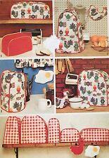Rare coupe VINTAGE 1972 simplicité cuisine appareil Couvre sewing pattern 5495