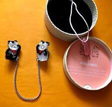 ERSTWILDER Japan NOBLE NEKO Double Lucky Cat Chain Limited Ed Brooch BNWT