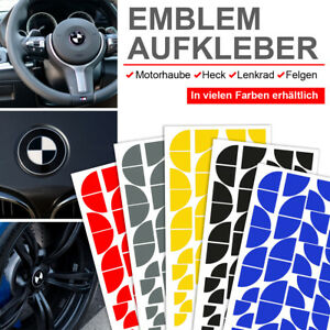 Emblem Aufkleber Ecken für BMW F06 6er, F07 5er, F10 5er, F11 5er, F12 6er
