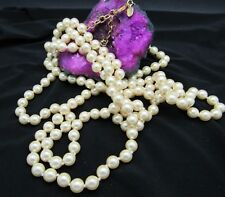 JOAN RIVERS HAND KNOTTED TAHITIAN PEARL NECKLACE EXTRA LONG 60""