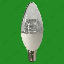 8x 5.5W Transparente Led Vela , Instantáneo en SBC B15 BAJO CONSUMO