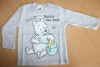 Winnie the Pooh Langarmshirt für Jungsgrau Gr.74/80 Disney Baby