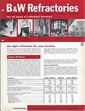 MRO Brochure - Babcock & Wilcox - Furnace Refractory Fire Brick - c1952 (MR147)