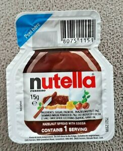 Nutella Chocolate Mini Spreads BB 24/05/22 15g Individual Portions NEW STOCK