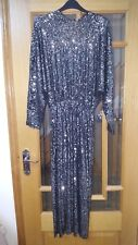 BNWT ZARA SILVER BACKLESS EMBELLISHED SEQUIN DRESS SIZE SMALL