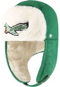 Philadelphia eagles NFL '47 Brand Old Logo Trapper Winter Hat Cap Green NFL New