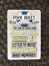 Retro Metal Tin Signs Pool Rules Swimming Pool Plaque Wall Poster