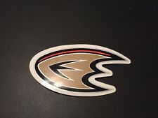 "NHL Anaheim Mighty Ducks Sticker Black Gold Orange 5""x2.5"""