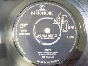 "THE BEATLES ~ HELP! ~ PARLOPHONE 1965 UK 1ST PRESS MONO BEAT 7"" VINYL SINGLE"