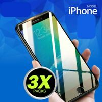 3 X 9H Tempered Glass Screen Protector Film for Apple iPhone 7 8 Plus /lz