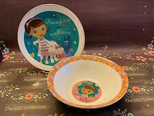 Disney's Doc McStuffins Porcelain Meal Set Bowl & Plate Friendship Best Med.