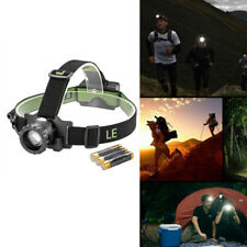 LED HeadLamp Flashlight Headlight Battery Powered Helmet light 3 Modes IPX4