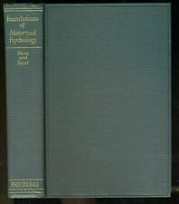 Fred A. MOSS and Thelma Hunt. Foundations of Abnormal Psychology 1932 HC