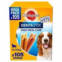 Pedigree DENTASTIX MEDIUM , MEGA PACK da 105pezzi  per cani fino a 25kg