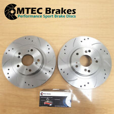 CHECK SIZE FRONT 2 BRAKE DISCS /& PADS FOR MITSUBISHI L200 2.5 TD DIESEL 01-06
